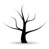 Vector tree. Old dry vector tree illustration vector illustration