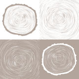 Vector tree rings background and saw cut tree trunk Stock Images