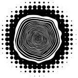 Vector tree rings background Stock Photos