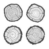 Vector tree rings collection. Flat Design Royalty Free Stock Photos