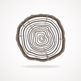 Vector tree rings. Flat Design Stock Images