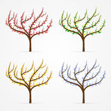 Vector tree set Stock Photography
