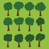 Vector of tree set Stock Photography