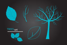 Vector tree set Stock Image