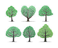 Vector tree set Stock Photo