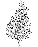 Vector Tree Silhouette - Graphic Element Stock Photo