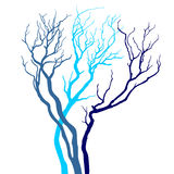 Vector tree silhouette Stock Images