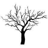 Vector tree silhouette Stock Photos