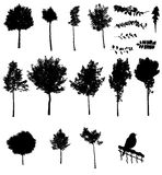Vector tree silhouettes Royalty Free Stock Photos