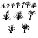 Vector tree silhouettes Royalty Free Stock Images