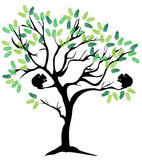 Vector Tree With Squirrels Royalty Free Stock Images