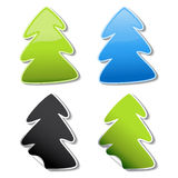 vector tree stickers Stock Photos