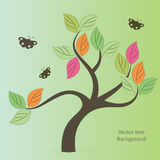 Vector tree stylized Royalty Free Stock Photo