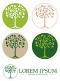 Vector Tree Symbols Template Royalty Free Stock Photos