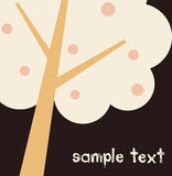 Vector tree text Royalty Free Stock Photos