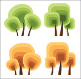Vector trees Royalty Free Stock Photos