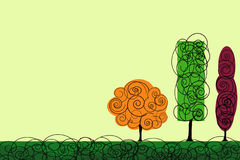 Vector trees Royalty Free Stock Photography