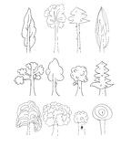 Vector trees collection Royalty Free Stock Photos