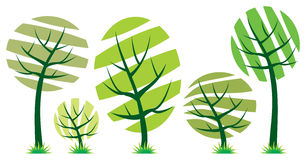 Vector trees icon Royalty Free Stock Photo