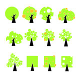 Vector trees icon Royalty Free Stock Image