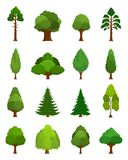 Vector  trees icons Royalty Free Stock Photo