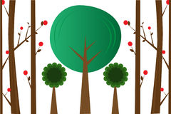 Vector Trees Illustration Royalty Free Stock Photography