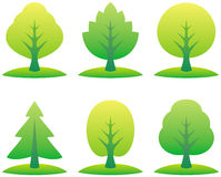 Vector trees illustration Stock Image