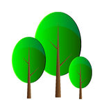 Vector trees Royalty Free Stock Images