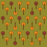 Vector trees pattern. A trees pattern on green background.EPS file available vector illustration