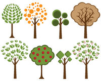 Vector trees set 2. Illustration of a set of  trees isolated on white background.EPS file available Stock Image