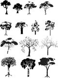 Vector trees set Stock Photography