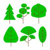 Vector Trees Set stock illustration