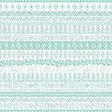 Vector trendy hand drawn seamless pattern with ethnic and tribal Royalty Free Stock Images