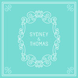 Vector trendy linear frame with copy space for text Royalty Free Stock Photography