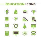 Vector trendy school icons set. Minimalistic flat Royalty Free Stock Photography
