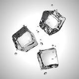 Vector Tres cubos de hielo EPS10 Foto de archivo libre de regalías