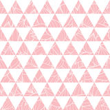 Vector triângulos do rosa salmon e o fundo sem emenda do teste padrão da repetição da textura das folhas Aperfeiçoe para a tela m Fotos de Stock