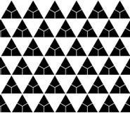 Vector triângulos sem emenda modernos do teste padrão da geometria, sumário preto e branco Imagens de Stock Royalty Free