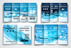 Vector tri fold brochure template design or flyer layout Royalty Free Stock Images