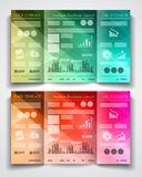 Vector tri fold brochure template design or flyer layout Royalty Free Stock Photos