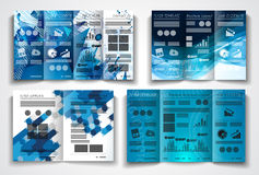 Vector tri fold brochure template design or flyer layout Stock Photography