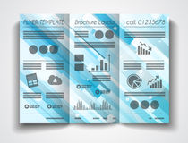 Vector tri fold brochure template design or flyer layout Stock Images
