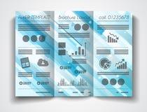 Vector tri fold brochure template design or flyer layout royalty free illustration