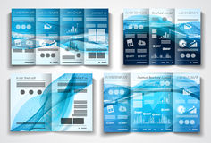 Vector tri fold brochure template design or flyer layout Royalty Free Stock Photography