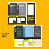 Vector tri-fold business brochure design Stock Images