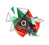 Vector triangle abstract background, low poly concept. Vector triangle abstract background with wire triangular elements, low poly concept, minimal modern stock illustration