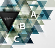 Vector triangle abstract background Royalty Free Stock Photography