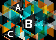 Vector triangle abstract background Stock Photos