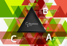 Vector triangle abstract background Royalty Free Stock Image