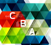 Vector triangle abstract background Royalty Free Stock Photos